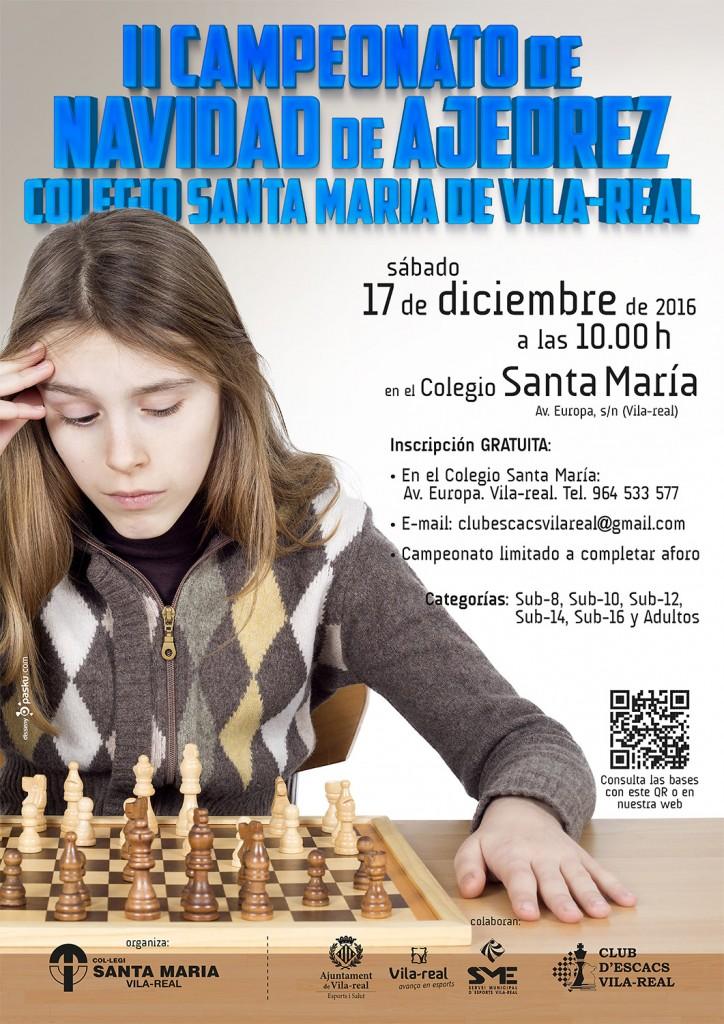 2º Campeonato de Navidad de Ajedrez del Colegio Santa Maria de Vila-real