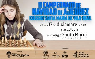 II Campeonato de Navidad de Ajedrez en el colegio Santa María